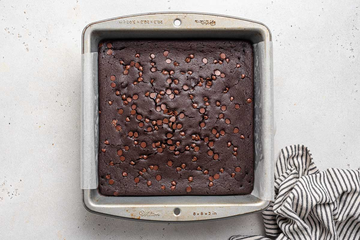Baked black bean brownies from the food processor.